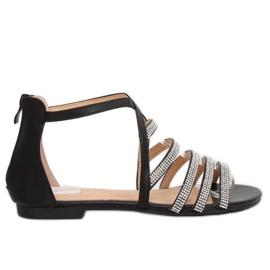 Crna Crne ženske sandale LL6339 Crne