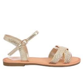 Sárga Ženske sandale i zlato WL282 Zlato