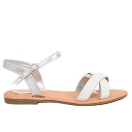 Siva Ženske srebrne sandale WL282 Silver