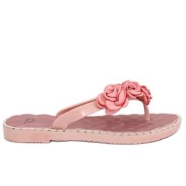 Flip flops s ružičastim cvjetovima YJL-1818 Pink roze