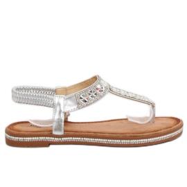 Siva Sandale srebrne ZY163 srebrne