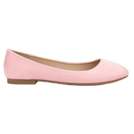 Small Swan Pink Suede Balerina roze