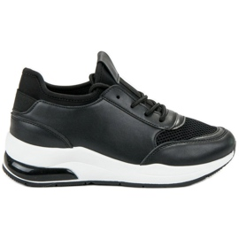 Ideal Shoes crna Sportske cipele za žene