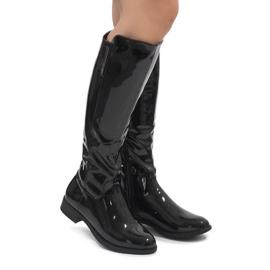 Crne lakirane čizme W-92 crna