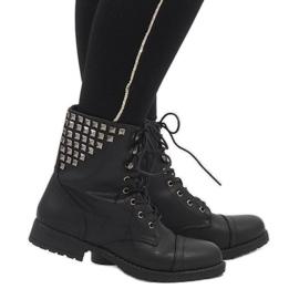 SDS crna Crne čizme od čipke čizme S170