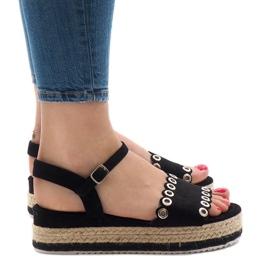 Crna Crne sandale na platformi 99-46