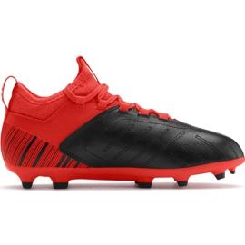 Nogometne čizme Puma One 5.3 Fg Ag JR105657 01 crvena crna