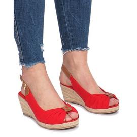 Crvena Crvene Zoe espadrilles klinaste sandale