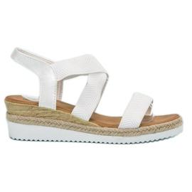 Anesia Paris bijela Klizne sandale na platformi