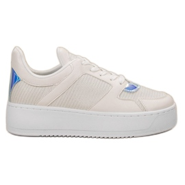Ideal Shoes bijela Tenisice s brokatom