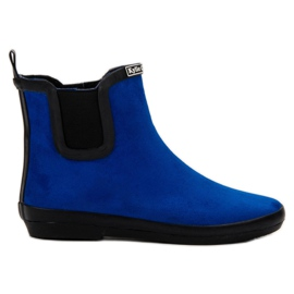 Kylie Suede Leather Wellies plava