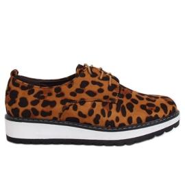 Mokasinke za žene leopard C-7225 Leopard Print smeđ