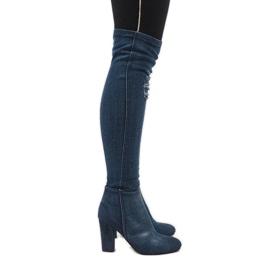 Plava Plave jeans čizme s gumenim BH70-HB