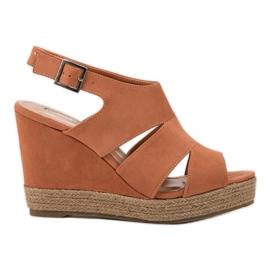 Best Shoes narančasta Narančaste sandale od espadrila