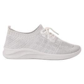 Ideal Shoes bijela Tekstilne sportske cipele
