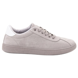 Ideal Shoes siva Obuća sive čipke