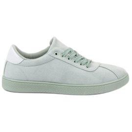 Ideal Shoes Cipele od metvice za vezanje zelena