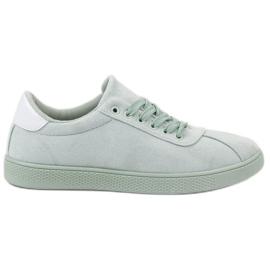 Ideal Shoes zelena Cipele od metvice za vezanje