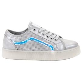 SHELOVET siva Ležerne dame cipele