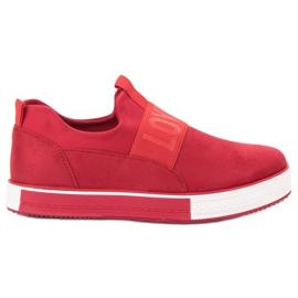 SHELOVET crvena Cipele od antilop suede