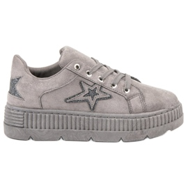 SHELOVET siva Suede Creepers