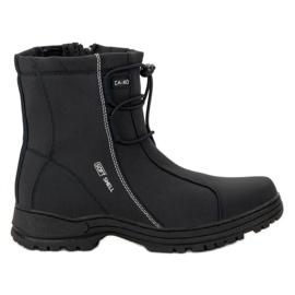 Ax Boxing crna Crne čizme za snijeg