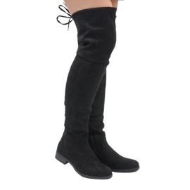 N/M crna Čizme čizme izolirane crnim antilopom