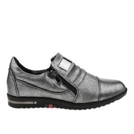 Sive cipele s patentnim zatvaračem H034 siva