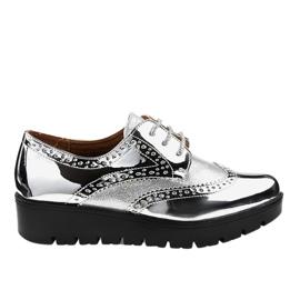 Srebrne cipele od čipke TL-60 siva