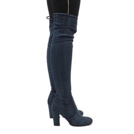 Plava Plave traperice od čizme sa šljokicama BH71-HB