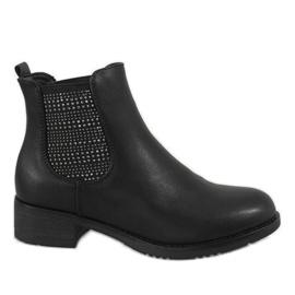 Kayla Shoes Crna izolirana visokim potpeticama 88053