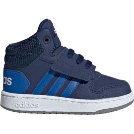 Mornarica Dječje cipele Adidas Hoops Mid 2.0 EE6714