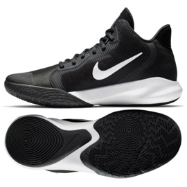 Nike Precision Iii M AQ7495 002 košarkaške cipele crne crna crna