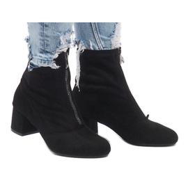 Crna Suede čizme s patentnim zatvaračem FOZ-01