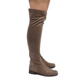 Taupe ženske čizme 3037-49