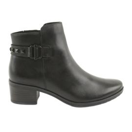 Crna Caprice 25433 crne čizme s crnim štiklama