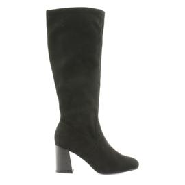 Crna Filippo 1028 čizme za koljena, crne