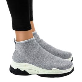 Siva sportska obuća s elastičnim LA33P