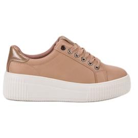Kylie smeđ Sportske cipele na platformi