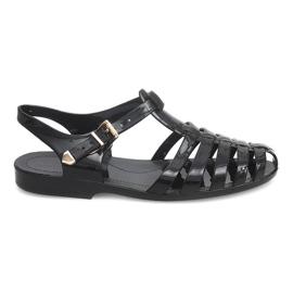 Crna Rimske sandale Meliski PT36 crne