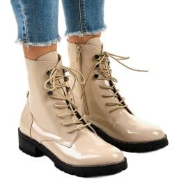Bež ženske visoke čizme XW37278 smeđ