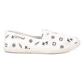 VICES mornarske papuče bijela