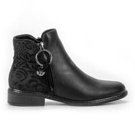 Filippo crna Modne cipele s patentnim zatvaračem