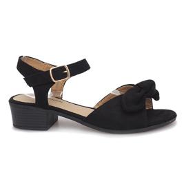 Crna Crne sandale s visokom petom