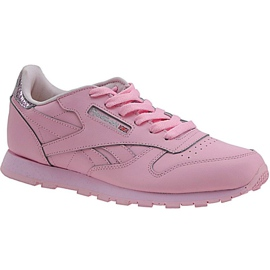 Reebok Classic Kožne metalik Jr BD5898 cipele roze