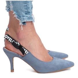 Plava Plave sandale Love Paris