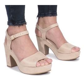 Smeđ Beige Boiset post sandale