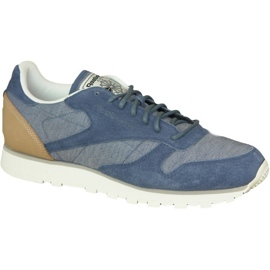 Plava Cipele Reebok Cl kože Fleck M AQ9722