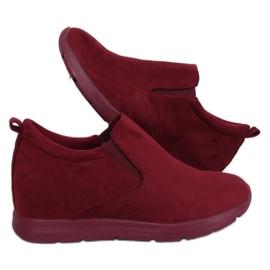 Cipele na skrivenoj klinastoj potpetici ZY-7K67 Crvena