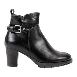 Vinceza Elegantne jesenske čizme crna